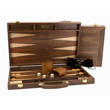 Dal Rossi 18 Walnut Backgammon Set with Handle NEW