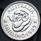 1959 Australia .500 Silver Coin - 1 Shilling - km59 - Brilliant UNC Australian