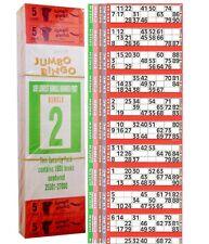 6000 BOOKS 5 PAGE GAME STRIPS OF 12 TV JUMBO BINGO TICKET SHEET BIG BOLD NUMBERS