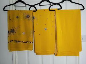 Sequin Unstitched Salwar Kameez Material Makes 3 Piece Suit Fabric