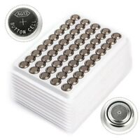 Lot 50pc1.5V LR44 Alkaline Coin Button Cells Battery A76 L1154 AG13 357 SR44 G13