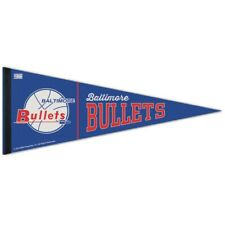 "BALTIMORE BULLETS WASHINGTON WIZARDS HARDWOOD CLASSICS ROLL UP PENNANT 12""x30"""