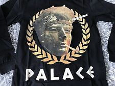 PALACE SKATEBOARDS PEASER MEDIUM BLACK LONG SLEEVE LS TEE M SS17 JULIUS CAESER