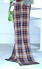 "1970s Vintage Plaid Pant~30"" High Waist~Flare Bell Bottom, Hip 37"" Inseam 33.5"""