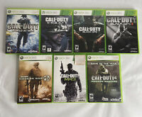 Xbox 360 Lot Of 7 Call Of Duty Games TESTED and WORK