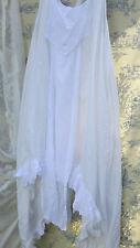 RITANOTIARA W MAGNOLIA BOW ONE SIZE SLEEVELESS VINTAGE LACE WHITE PEARL DRESS