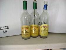 Lot of 48 empty WINE BOTTLES--Clear Bordeaux--w/ Labels