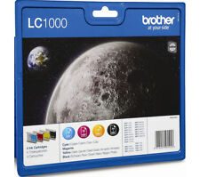 Brother Original LC-1000 LC1000 Black Cyan Magenta Yellow Ink Cartridges NO BOX