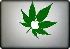 Cannabis feuille autocollant vinyle mac book sticker fits all