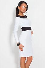 Unique & Stunning Women's Dress V Neck on Back Long Sleeve Boat Neck FK1214