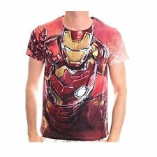 Polyester Short Sleeve Graphic Tee Iron Man T-Shirts for Men