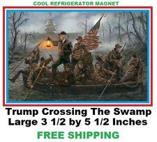 466  Jon McNaughton Painting TRUMP CROSSING THE SWAMP Donald Trump Fridge Magnet
