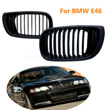 MATT FRONT KIDNEY GRILLES GRILL FOR BMW E46 4-DOOR 3 SERIES 02-05 Saloon  -