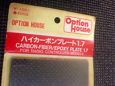 Kyosho W1001 OPTION HOUSE Carbon Fiber / Epoxy Plate 1.7 - Vintage SUPER RARE