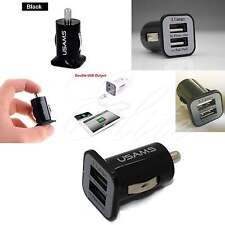 Usams Car Charger Mini Dual USB 12V 3.1A Universal Car Lighter Charger Adapter