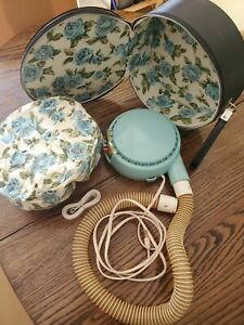 Vintage Supre Macy Portable Soft Bonnet Hair Dryer Model Turquoise Retro Working