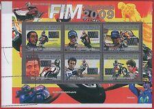 FRENCH GUINEA - ERROR, 2008 MISPERF SHEET: MOTORBIKES, FIM, Valentino Rossi