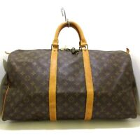 Auth LOUIS VUITTON Keepall 50 M41426 Monogram 854SD Boston Bag
