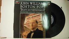 33 RPM Vinyl John Williams Boston Pops Thats Entertainment Philips 630 111214KME