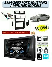 1994-2000 FORD MUSTANG w/AMP AM/FM USB CD AUX MP3 BLUETOOTH CAR STEREO PKG