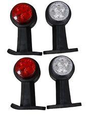 Lot de 4 Feux de gabarit position 24V à LED rouge / blanc pour camion remorque