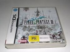 Final Fantasy III Nintendo DS 2DS 3DS Game *Complete*