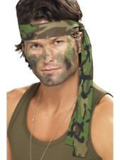 UNISEX ARMY HEADBAND LADIES MENS MILITARY COMBAT SOLIDERS FANCY DRESS ACCESSORY