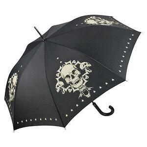 Regenschirm von Lilienfeld Stockschirm Motivschirm Skull Damen Herren totenkopf