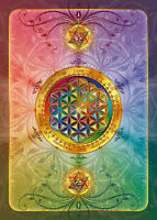 10 x Postkarte Blume des Lebens OM Meditation Yoga Heilige Geometrie Liebe Love