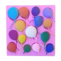 Silicone Balloons Fondant Cake Sugarcraft Chocolate Decorating Mold Baking C5U0