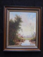 """Belle huile sur toile signée BOSMANS """" les bords de l'étang """""""