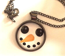 Animal Crossing Snowman necklace, chain, manga anime nintendo