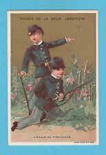 MILITARY  -  BELLE  JARDINIERE  -  CHILDREN  AS  MILITARY  CARD  ( B ) -  C 1900