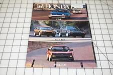1984 Honda Car Brochure; Civic, Accord, Prelude