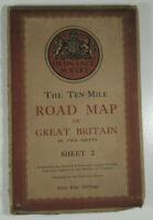 1946 Old Vintage OS Ordnance Survey Ten-Mile Map Great Britain Sheet 2 South