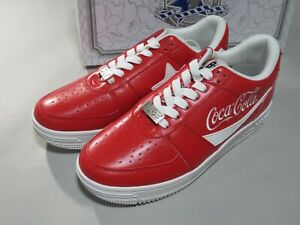 25659 bape coca cola bapesta low red US10