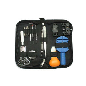Home Watch Repair Tool Kit Opener Link Remover Spring Bar Hammer + Back Case NEW