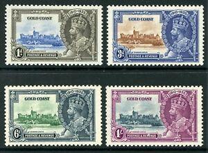 British 1935 KGV Silver Jubilee Gold Coast Set Scott # 108-111 Mint C408