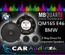 MB Quart QM165 E46 BMW 16.5cm Custom Fit Component Speakers for BMW 3 Series E46