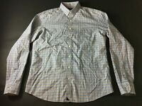 Untuckit Mens Colorful Plaid Front Pocket Button Front Shirt Size Large