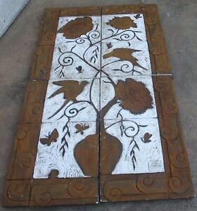 2003 Anna Chandler Design 4 Panel Garden Wall Art