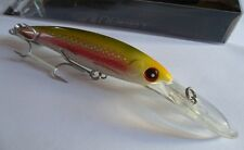 Noeby leurre traine Minnow 14cm 44g nage 0 à 7m couleur Chartreuse