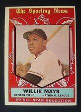 1959 Topps Willie Mays TSN All-Star #563, San Francisco Giants, SF, EX