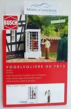 """Busch 1/87 (H0): 7813 """" ACTON ensemble : Volière Oiseaux """", avec figurines"""