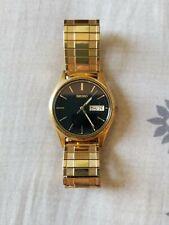 Vintage Mens Seiko Stainless Steel Black Dial Watch