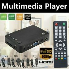 Full 1080P HD Multi Media Player TV BOX 3 Outputs HDMI/VGA/AV USB & SD Card