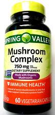 Spring Valley Made W/ Organic Mushrooms PIlls Capsules 750Mg