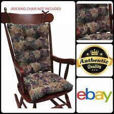 Cushions For Rocking Chair Jumbo Non Slip Gripper Bottom Cabernet Tapestry New