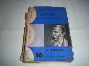 """On """"CAPITAL"""" essays and reviews ( Marxist Leninist Library)  By F.Engels  Book"""