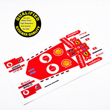 CUSTOM sticker for LEGO 8386 Technic Ferrari F1 Racer